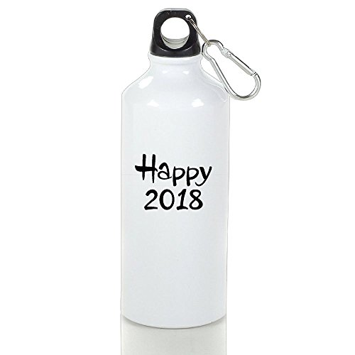 BPA Free Aluminum Happy 2018 Sport Water Bottle. Eco Friendly, Sweat Proof Bottle, Great For Outdoor And Sport - Woodbury Mall York New