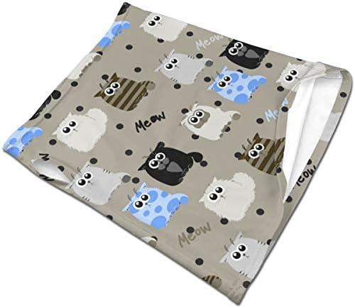 フェイスカバー Uvカット ネックガード 冷感 夏用 日焼け防止 飛沫防止 耳かけタイプ レディース メンズ Funny Cats On Gray Background
