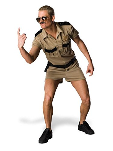 Reno 911 Dangle Costume, Brown, -