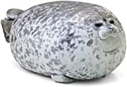 MerryXD Chubby Blob Seal Pillow,Stuffed Cotton Plush Animal Toy Cute Ocean