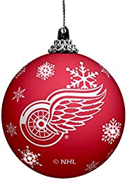 LED Light UP Ball Ornament Detroit RED Wings, Team Colors