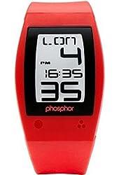 Phosphor Men's WP004 Red World Time Digital Watch