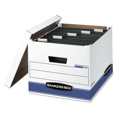 (Bankers Box Hang `N` Stor Storage Box, Legal/Letter, 12-1/2 x 15-3/4 x 10-1/2, WE/BE, 4/Ctn)