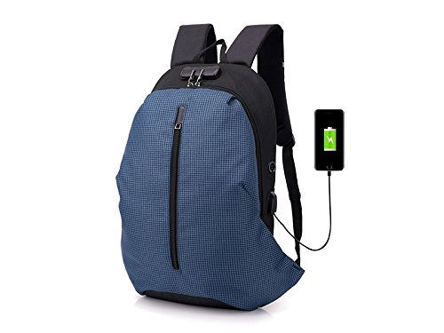 Wesource Outdoor Bags Night Anti-Theft Laptop Computer Backpack with USB Charging Port for Camping Hiking Business Man Women Good Protecter by Wesource