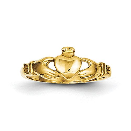 Baby 14K Yellow Gold Claddagh Ring