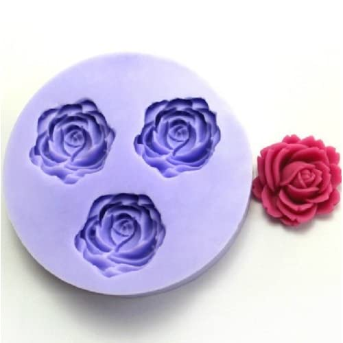 Allforhome(TM) Blooming Rose Resin Clay of Flower Molds Silicone Sugar Resin Craft DIY Moulds DIY gum paste flowers Cake Decorating Fondant Mold