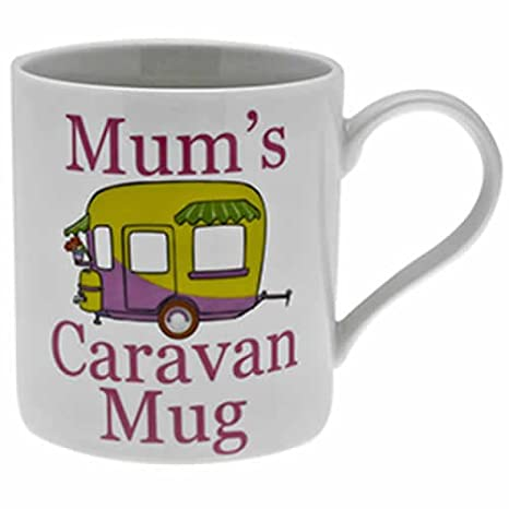 The Leonardo Collection Mum s Caravan taza en caja de regalo, color blanco