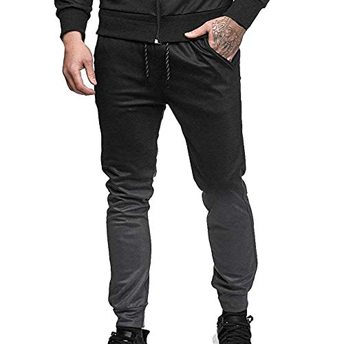 Gradient With Casual Clothing Men's Fitness Long Sweatpants Dunkelgrau Relaxed Drawstring Sports Stretch Pants wCfCtqF