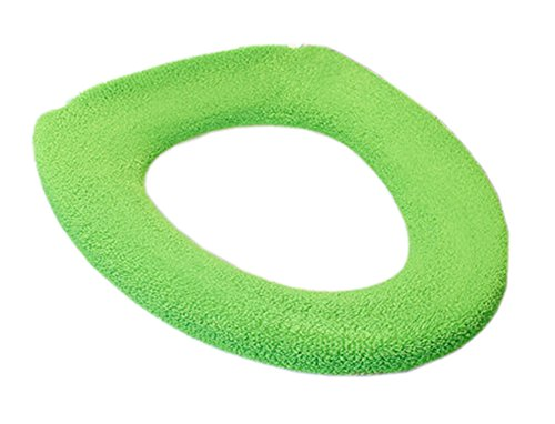 Cojín de la cubierta de asiento de inodoro de baño de invierno universal suave calentador más grueso estirable lavable #11