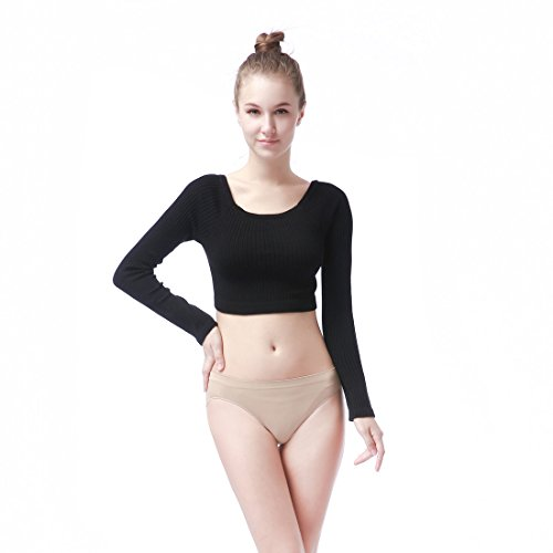 Ribbed Ballet Sweater - Clasmix Women Wrap Sweater Top For Ballet,Dance,Gymnastics (Free Size, Black)