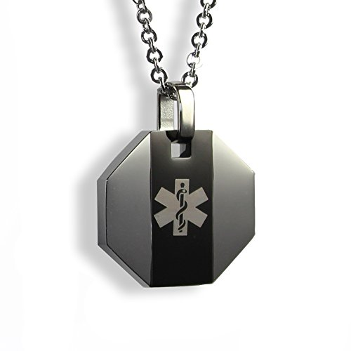 Engraved Medical Necklace - 1