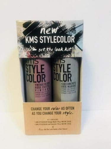 KMS STYLE COLOR VINTAGE BLUSH & ICED CONCRETE SPRAY - 3.8oz EACH DUO