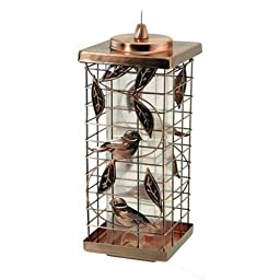 Audubon Kay Home Product\'s Squirrel-Resistant Caged Tube Feeder