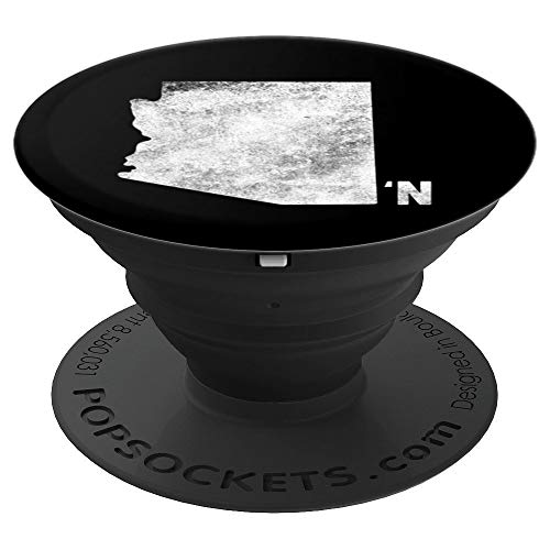Vintage Arizona Apostrophe N State Map Outline PopSockets Grip and Stand for Phones and Tablets