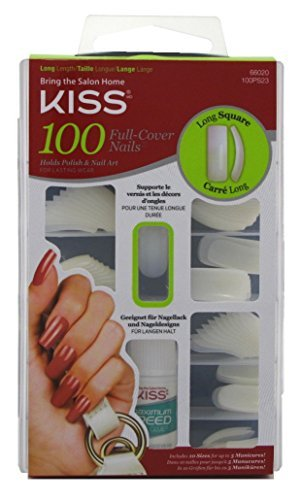 Kiss 100 Full Cover Nails Long Square