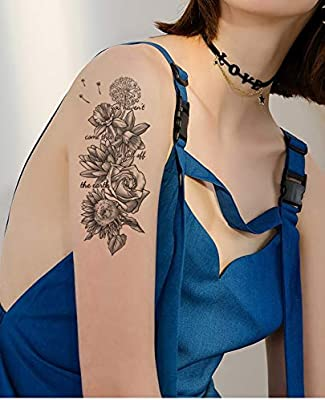 Tatuaje de rosas para fiesta o festival, TL122: Amazon.es: Belleza