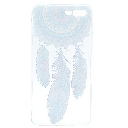 iPhone 7 Plus Hülle , Leiai Modisch Windmühle TPU Transparent Clear Weich Tasche Schutzhülle Silikon Handyhülle Stoßdämpfende Schale Fall Case Shell für Apple iPhone 7 Plus