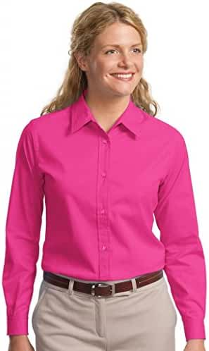 Port Authority Womens Long Sleeve Easy Care Shirt L608 -Tropical Pin 5XL