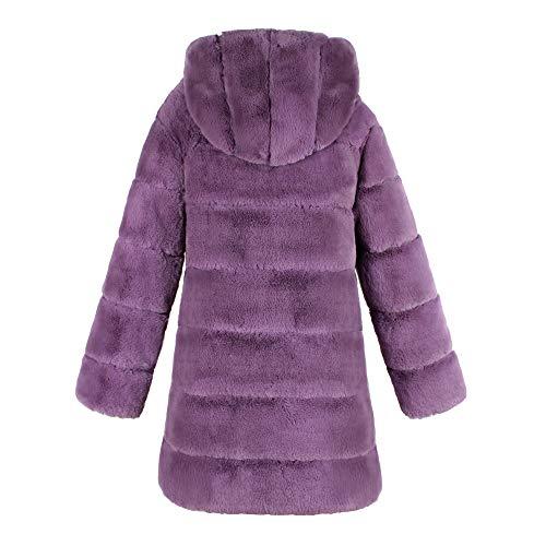 Femmes À Violet Femmes Et Chaude Fausse ❁tefamore Mode La Capuche Hiver Fourrure Pour En Automne Manteau zqZwgT