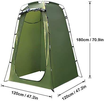 N B Removable Portabele Privacy Shower Tent Pop Up Privacy Tent Instant Portable Outdoor Shower Tent Camp Toilet Changing Room Rain Shelter with Window for Outdoors Beach Camping Travelling