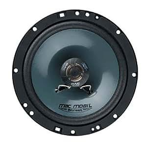 Mac Audio Mobil Street 16.2 - Altavoces coaxiales para coche de 200W, negro