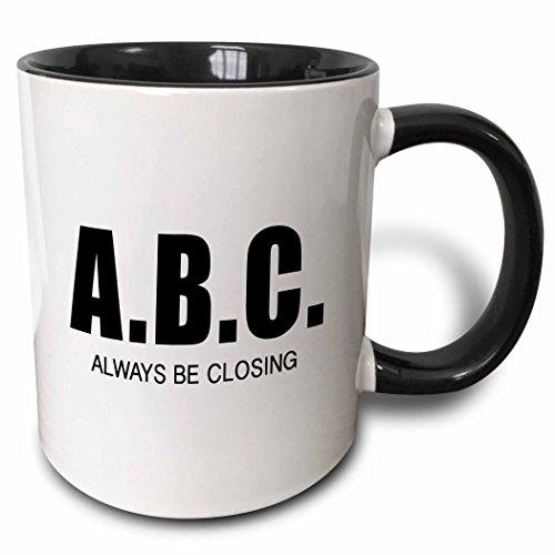 3dRose mug_223176_4 A.B.C. ALWAYS BE CLOSING - Two Tone Black Mug, - Closing Always