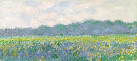 High Quality Polyster Canvas  The Amazing Art Decorative Prints On Canvas Of Oil Painting Field Of Yellow Irises At Giverny  1887 By Claude Monet  30X67 Inch   76X170 Cm Is Best For Dining Room Decoration And Home Artwork And Gifts