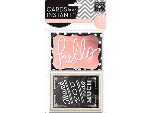 MAMBI Cards In An Instant Hello Thank You Gold -