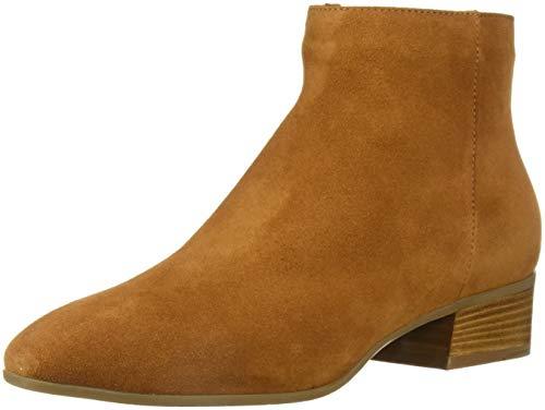 Aquatalia Women's Fuoco Suede Ankle Boot, bark, 8 M US