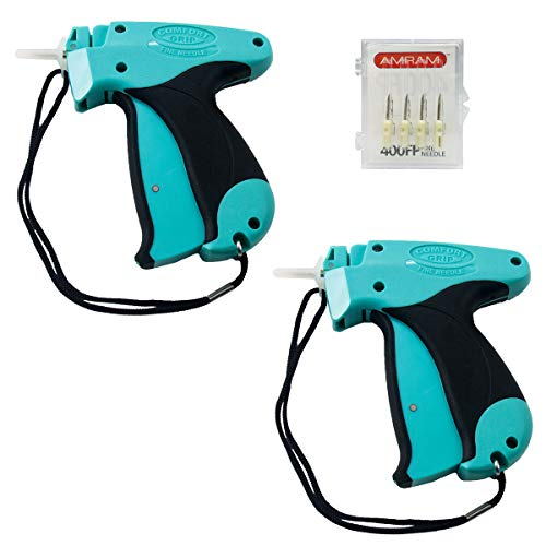 Amram Comfort Grip Tagging Gun Kit 2 Pack Tagging Gun Kit with 6 Needles for Fine Clothing Tagging Applications Easy to Load Easy to Use