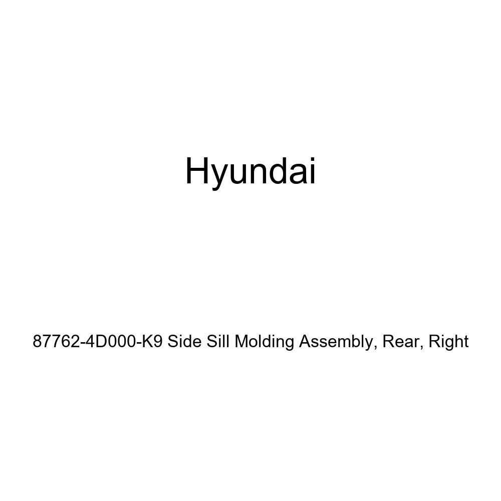 Rear Genuine Hyundai 87762-4D000-K9 Side Sill Molding Assembly Right