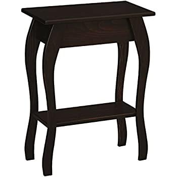 Amazon Com Pine Wood End Table Kona Stain Kitchen Amp Dining