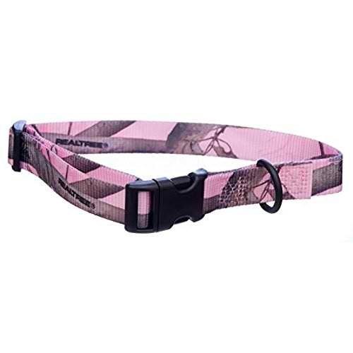 - Pink Realtree Camo Adjustable Dog Collar, Large (12