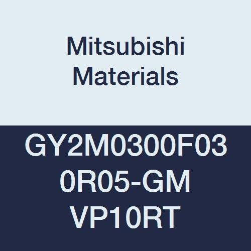 Mitsubishi Materials GY2M0300F030R05-GM VP10RT Carbide Grooving Insert for Medium Feeds, Coated, Sintered Peripheral, Right, F Seat, 0.118'' Grooving Width, 0.012'' Corner Radius (Pack of 10) by Mitsubishi Materials