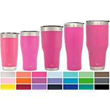 Simple Modern 30oz Cruiser Tumbler - Vacuum Insulated Double-Walled 18/8 Stainless Steel Hydro Travel Mug - Powder Coated Coffee Cup Flask - Cotton Candy Pink