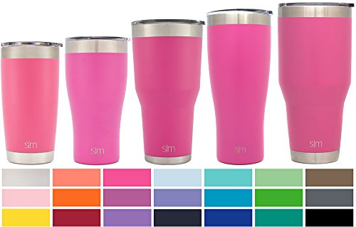 Simple Modern 40oz Cruiser Tumbler - Vacuum Insulated Double Wall Rugged - Travel Mug 18/8 Stainless Steel Thermos Pink - Cotton Candy