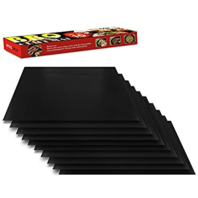 """Imarku BBQ Grill & Baking Mats, Durable , Heat Resistant, Non-Stick Grilling Accessories ,Works on Gas, Charcoal, Electric Grill and more- 15.75 x 13"""" -"""