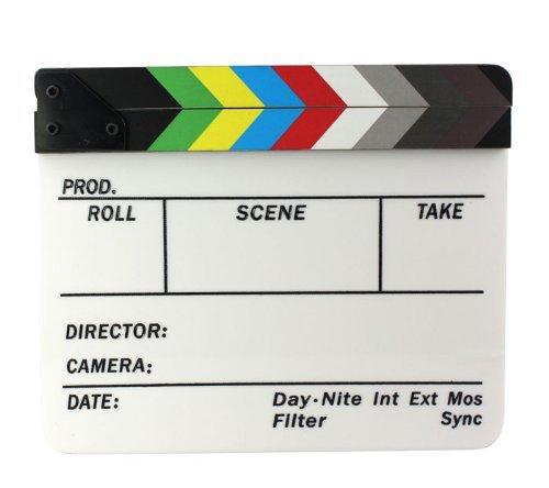 ABC 1pcs Colourful Pro Clapperboard Director TV Film Movie Cut Action Scene Clapper Board Slate