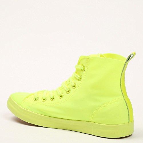 Ideal Shoes Basketballschuhe in Leinwand Evelyna Gelb