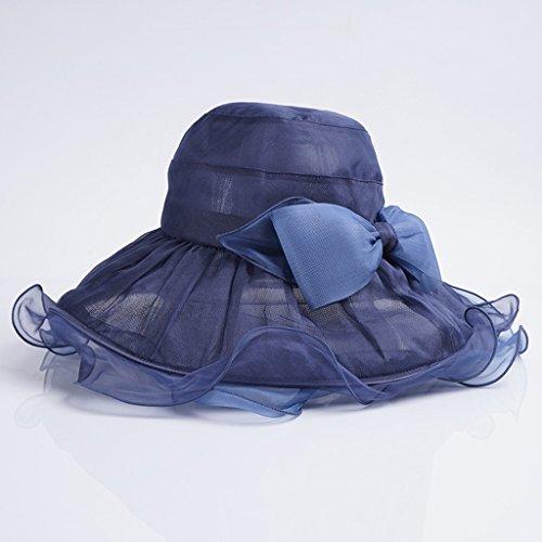Sol Solar Lo Largo La Protección A De Marino Verano Seda Variedad Yangxiaoyu Azul Sombrilla Sombreros Una Plegable Playa Sombreros OqpIgxSP