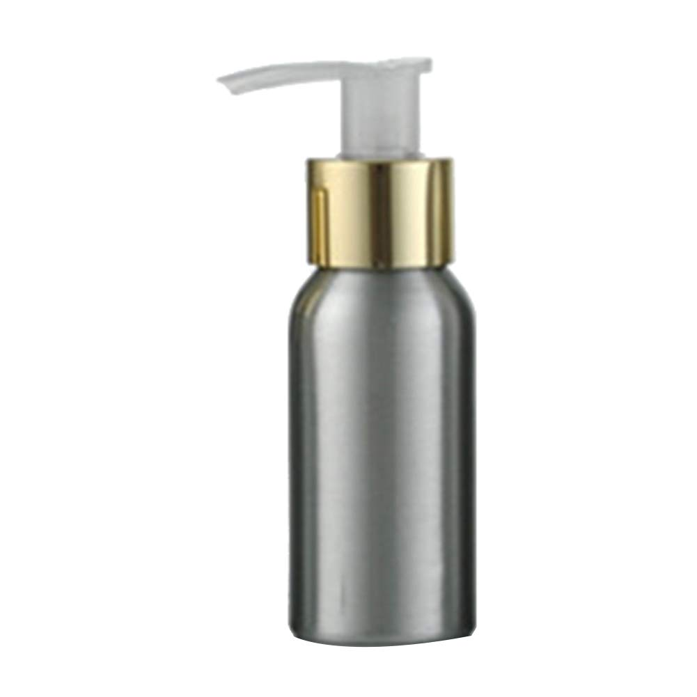 lightclub 40ml-250ml Rustproof Aluminum Bottle Pump Bottle For Shampoo Storage Lotion Sanitizer Pump Container For Travel Outdoor Golden 150ml