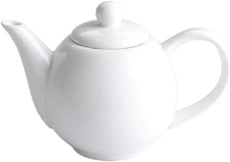 crisandecor Tetera Individual pequeña Porcelana Blanca: Amazon.es ...