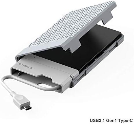 Caja con USB 3.1 Gen1 Tipo C para Disco Duro Externo 2.5: Amazon ...