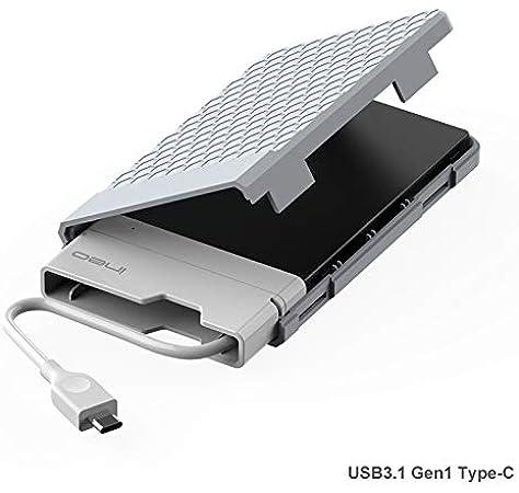 Caja con USB 3.1 Gen1 Tipo C para Disco Duro Externo 2.5: Amazon.es: Electrónica