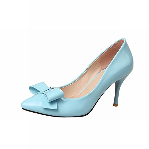541dfc70af8 Latasa Women s Elegant Patent-leather Bow Pointed-toe Stiletto High Heel  Dress Pumps Shoes