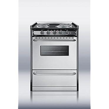 Summit TEM610BRWY Kitchen Cooking Range, Stainless Steel