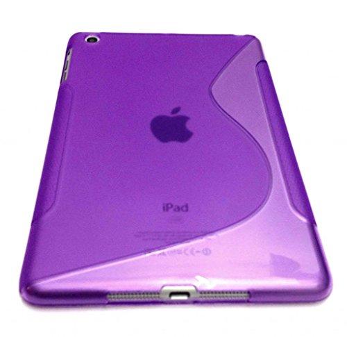 Cubierta de la caja del gel de silicona de alta Wave Line Valor S para Apple IPAD AIRE PURPLE