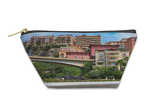 Gear New Accessory Zipper Pouch, Racing Car Sculpture In The Center Of Monte Carlo, Small, - Center Stores Monte Del