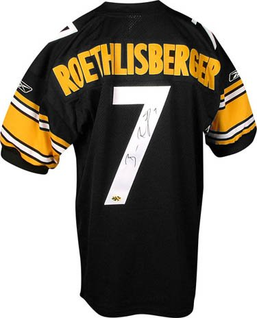 buy online e12f2 e3ec1 Ben Roethlisberger Signed Mounted Memories Steelers Jersey ...