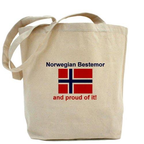 CafePress–orgullosos Noruega Bestemor–Gamuza de bolsa de lona bolsa, bolsa de la compra